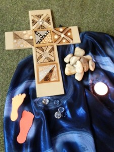 Items used as part of a Healing Day organised by The Living Well
